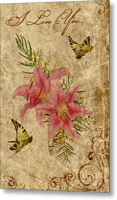 Eternal Love Message Metal Print by Olga Hamilton
