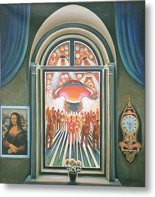 Eternity, 1968 Oil On Canvas Metal Print by Radi Nedelchev