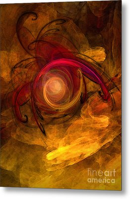 Eternity Of Being-abstract Expressionism Metal Print by Karin Kuhlmann