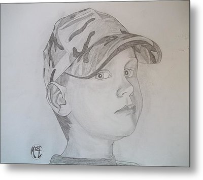 Metal Print featuring the drawing Ethan Age 6 by Justin Moore