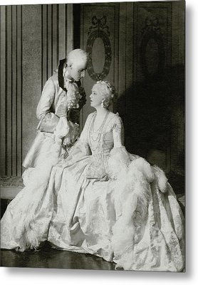 Ethel Barrymore And Henry Daniel In Costume Metal Print by Francis Bruguiere