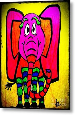 Ethel The Elephant Metal Print by Vickie Scarlett-Fisher