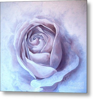 Metal Print featuring the painting Ethereal Rose by Sandra Phryce-Jones