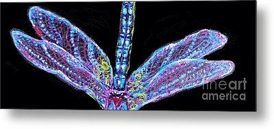 Ethereal Wings Of Blue Metal Print