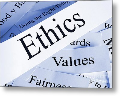 Ethics Metal Print by Colin and Linda McKie