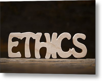 Ethics Metal Print by Donald  Erickson