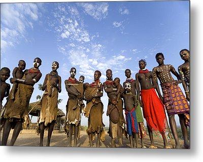 Ethiopia Groups Metal Print