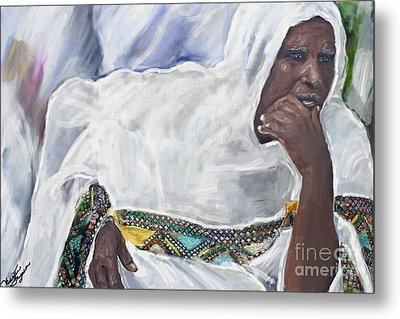 Ethiopian Orthodox Jewish Woman Metal Print
