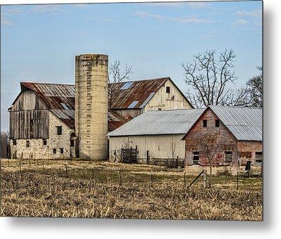 Ethridge Tennessee Amish Barn Metal Print