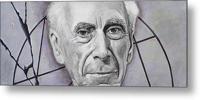 Euclid- Bertrand Russell Metal Print by Simon Kregar