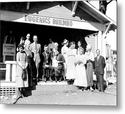 Eugenics Contest At Public Fair Metal Print by American Philosophical Society