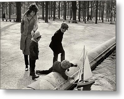 Eunice Shriver With Her Three Children Metal Print