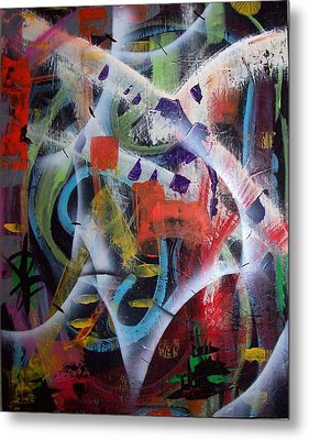 Metal Print featuring the painting Euphoria by Yul Olaivar