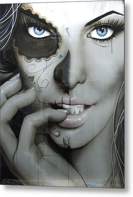 Sugar Skull - ' Euphoric Angel ' Metal Print by Christian Chapman Art