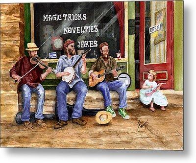 Eureka Springs Novelty Shop String Quartet Metal Print by Sam Sidders