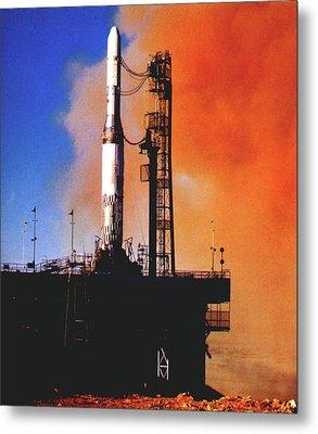 Europa Rocket Test Launch Metal Print