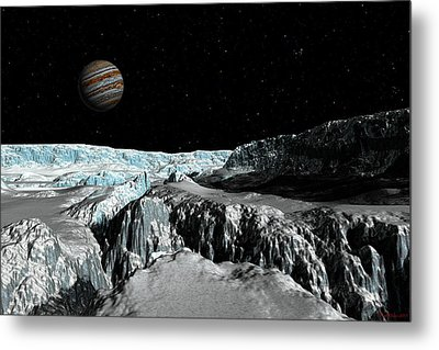 Europa's Icefield  Part 2 Metal Print by David Robinson