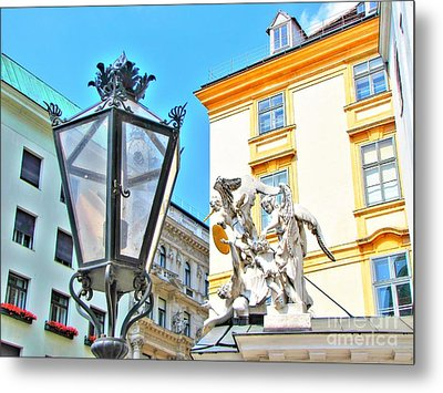 Europe Street Metal Print by Yury Bashkin