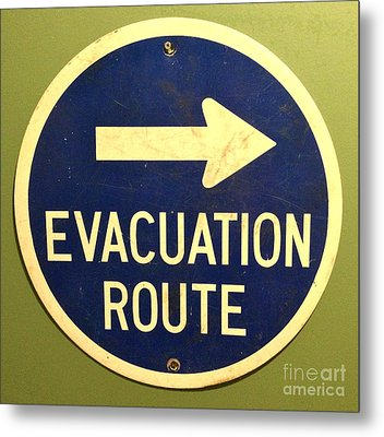 Evacuation Route Metal Print by M West