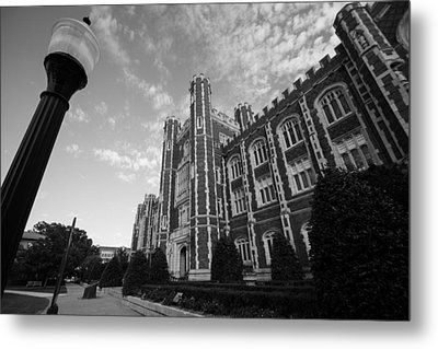 Evans Hall In Black And White Metal Print by Nathan Hillis