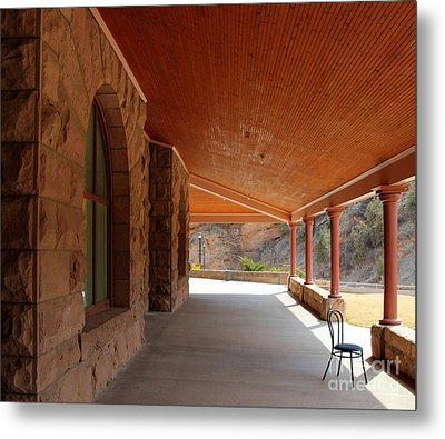 Evans Porch Metal Print by Bill Gabbert
