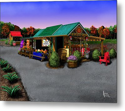 Eva's Farm Market Metal Print by Patrick Belote