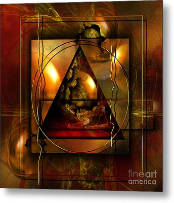 Eva's Guilt And Adam's Love Metal Print by Franziskus Pfleghart