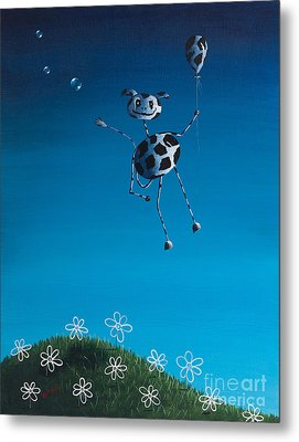 Even Cows Have Strange Dreams By Shawna Erback Metal Print by Shawna Erback
