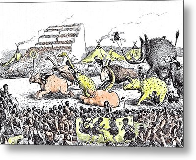 Even The Derby Had Its Primeval Counterpart Metal Print by Reed, Edward Tennyson (1860-1933), British