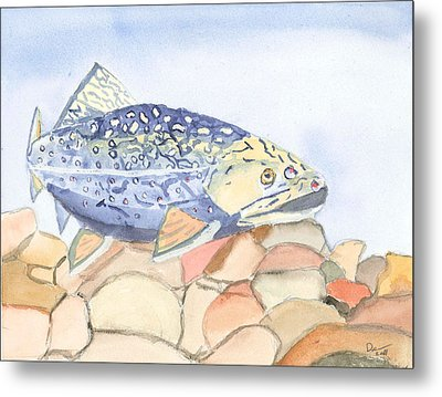 Even Troutbums Get The Blues Metal Print by David Crowell