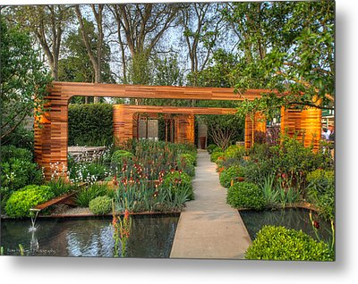 Metal Print featuring the photograph Evening At Chelsea Flower Show by Ross Henton