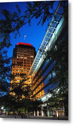 Evening At Ppl Plaza - Allentown Pa  Vertical Metal Print