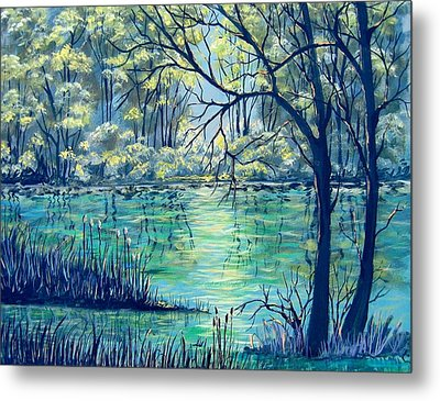 Evening At The Bayou Metal Print