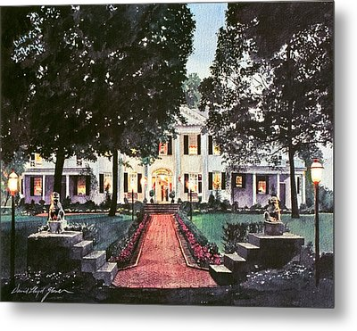 Evening At The Governor's Mansion Metal Print by David Lloyd Glover