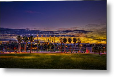Evening At The Park Metal Print by Marvin Spates