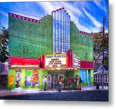 Evening At The Variety Playhouse - Atlanta Metal Print by Mark E Tisdale