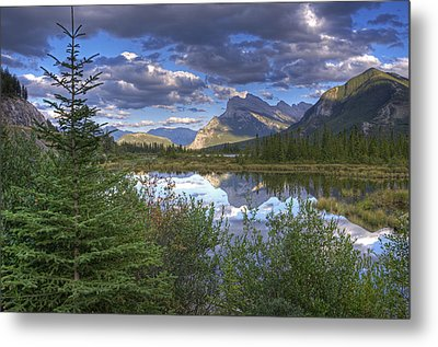 Evening At Vermillion Lakes Metal Print