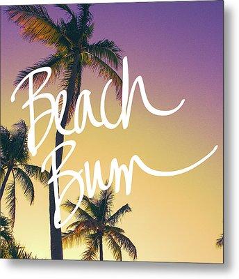 Evening Beach Bum Metal Print by Emily Navas