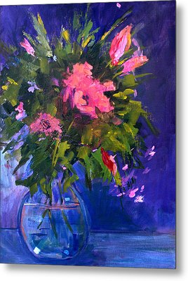 Evening Blooms Metal Print by Nancy Merkle