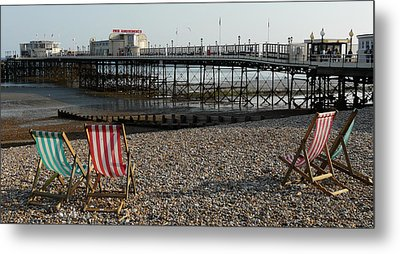 Evening By The Pier Metal Print