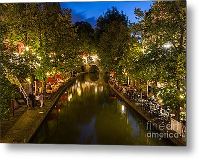 Metal Print featuring the photograph Evening Canal Dinner by John Wadleigh