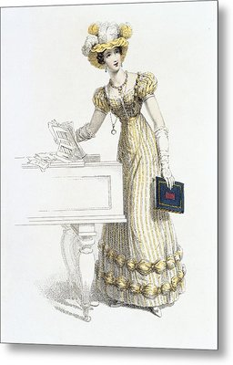 Evening Dress, Fashion Plate Metal Print