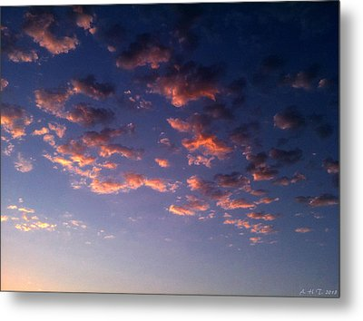 Evening Embracing Clouds Metal Print