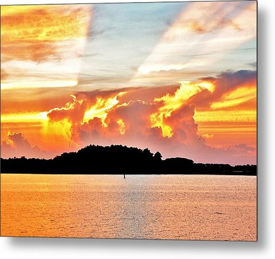 Evening Fire Metal Print