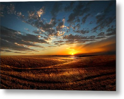 Evening Glow In Chase County Metal Print by Rod Seel