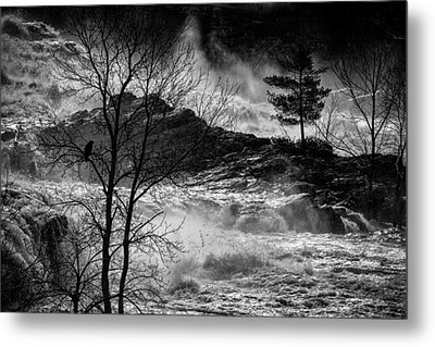 Evening Great Falls Maine Metal Print by Bob Orsillo