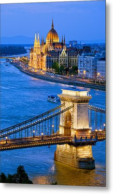Evening In Budapest Metal Print by Artur Bogacki