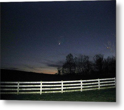 Evening In Horse Country Metal Print