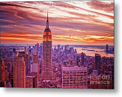 Evening In New York City Metal Print