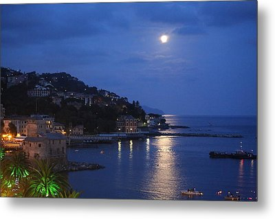 Evening In Rapallo Metal Print by Roberto Galli della Loggia